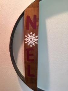 Noel Wine Barrel Hoop Wall Hanging 3