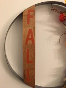 Fall  Wine Barrel Hoop  Wall Hanging 2