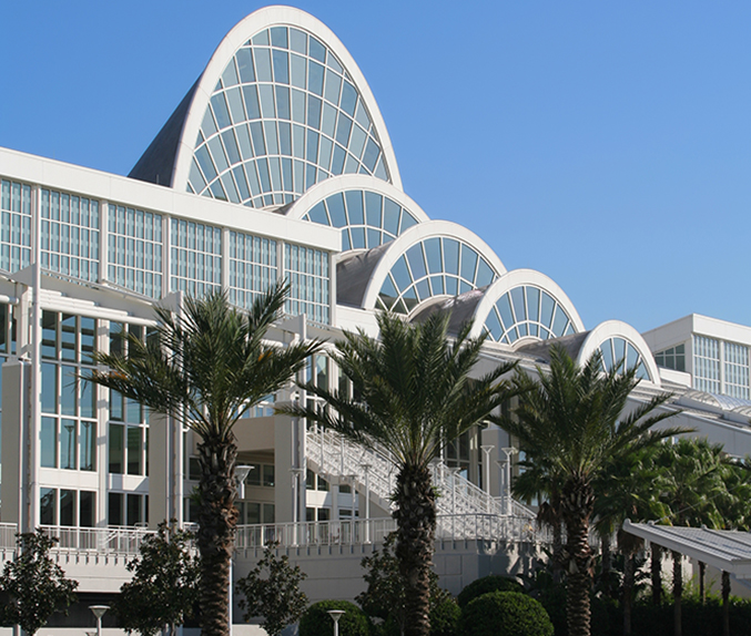 Exterior view of the Orange County Convention Center