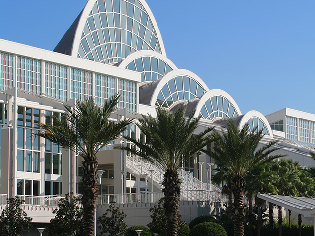 Orlando Venues Exterior view of the Orange County Convention Center