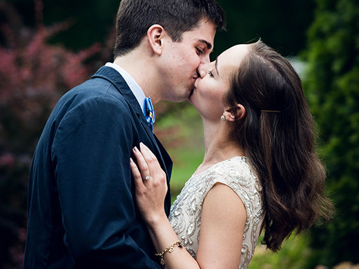 Engagement Photo at Prospect House Rose Garden