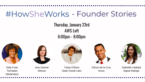 How She Works event flier