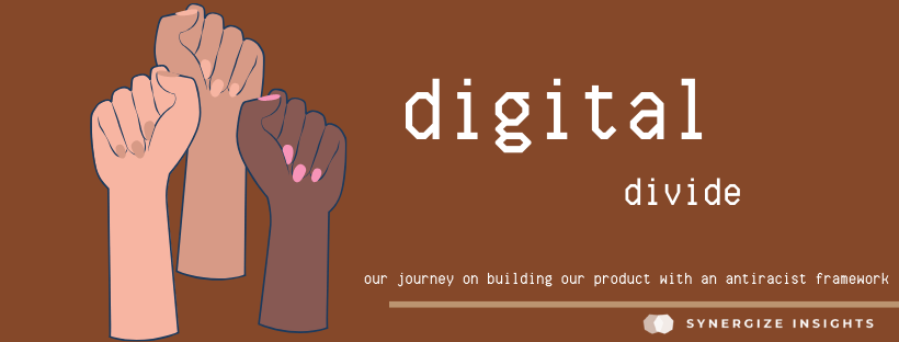 banner reading digital divide