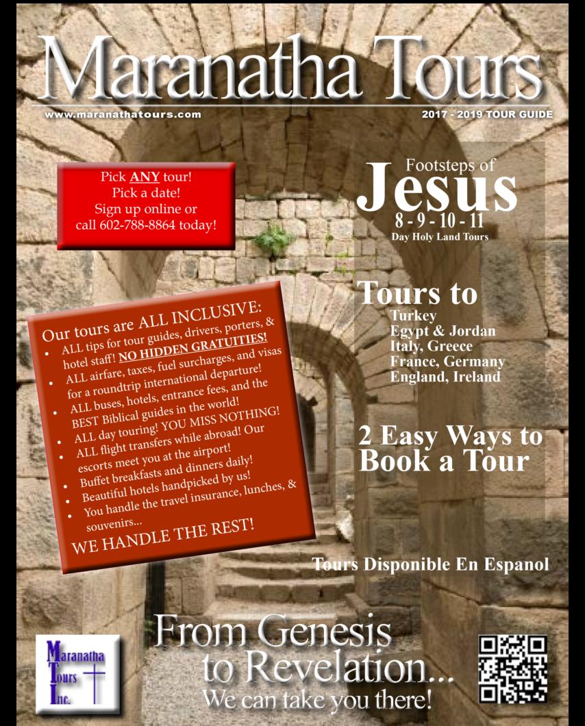 Maranatha Tours Travel Guide 2017-2019 Book