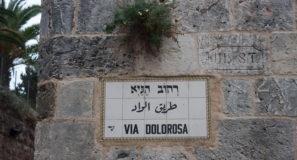 Walking Jesus' Footsteps Via Dolorosa Old City Jerusalem