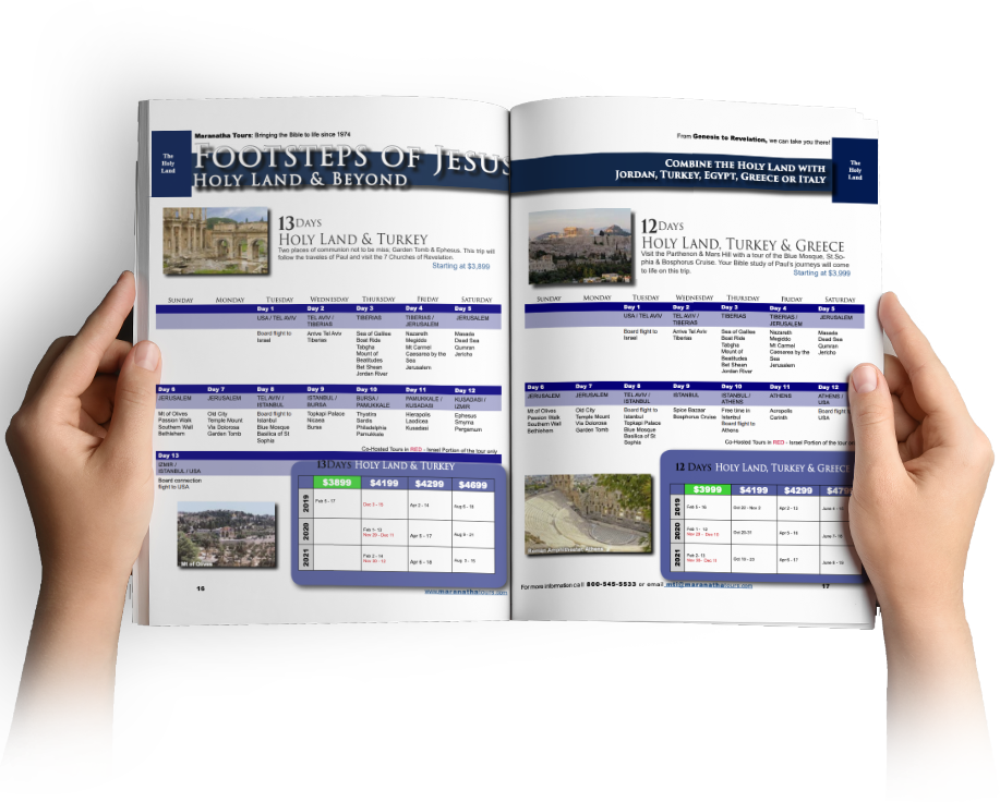 Maranatha Tours Tour Guide Travel Book