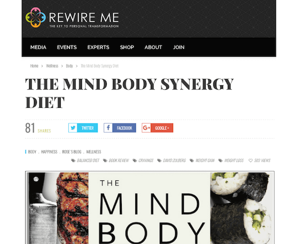 REWIRE ME: Enlightening excerpt from David Zulberg's new book