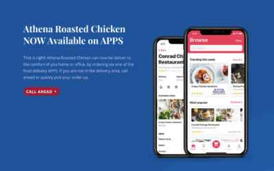Athena Roasted Chicken & Food Delivery Apps