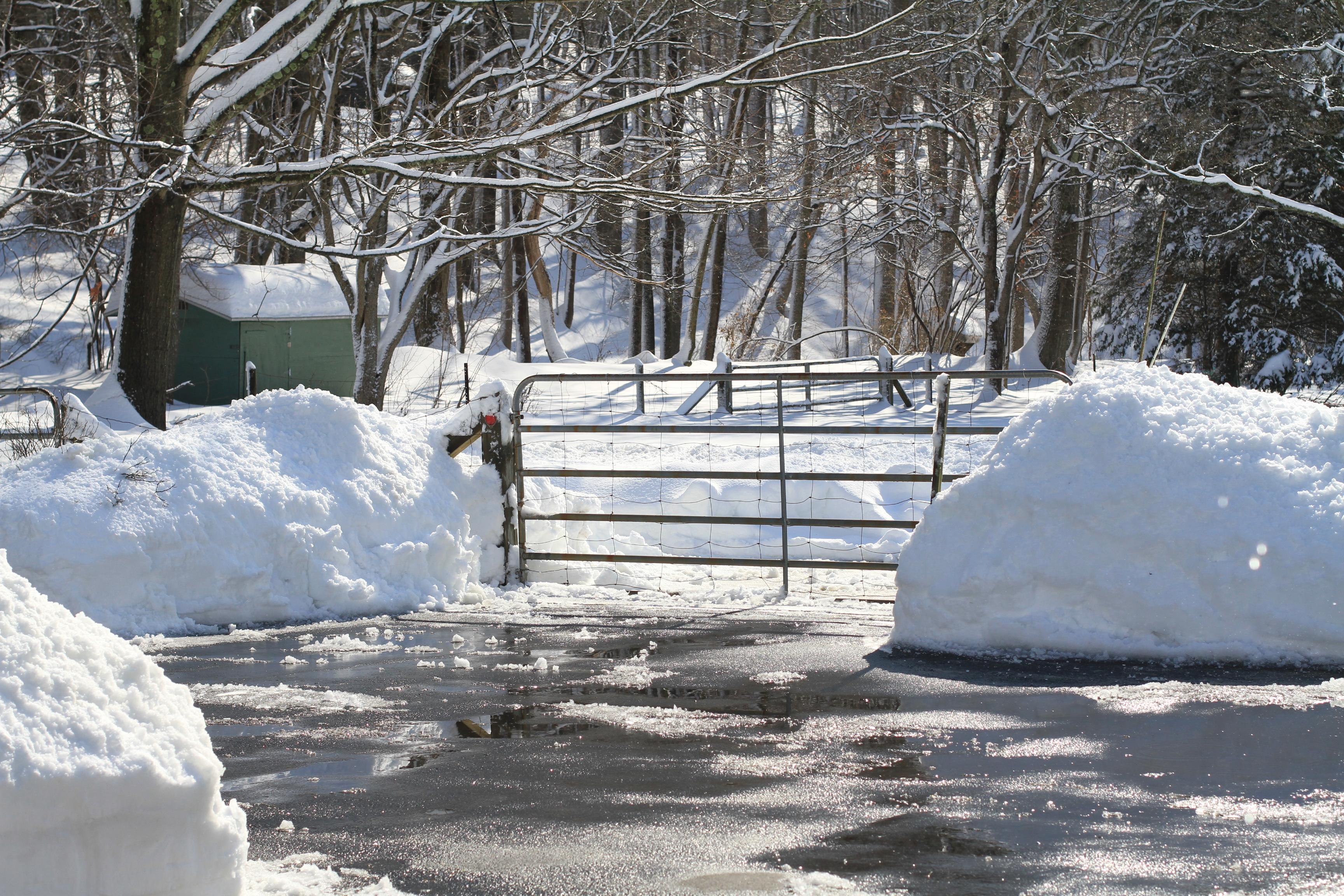 Snow Around Gate IMG_7097