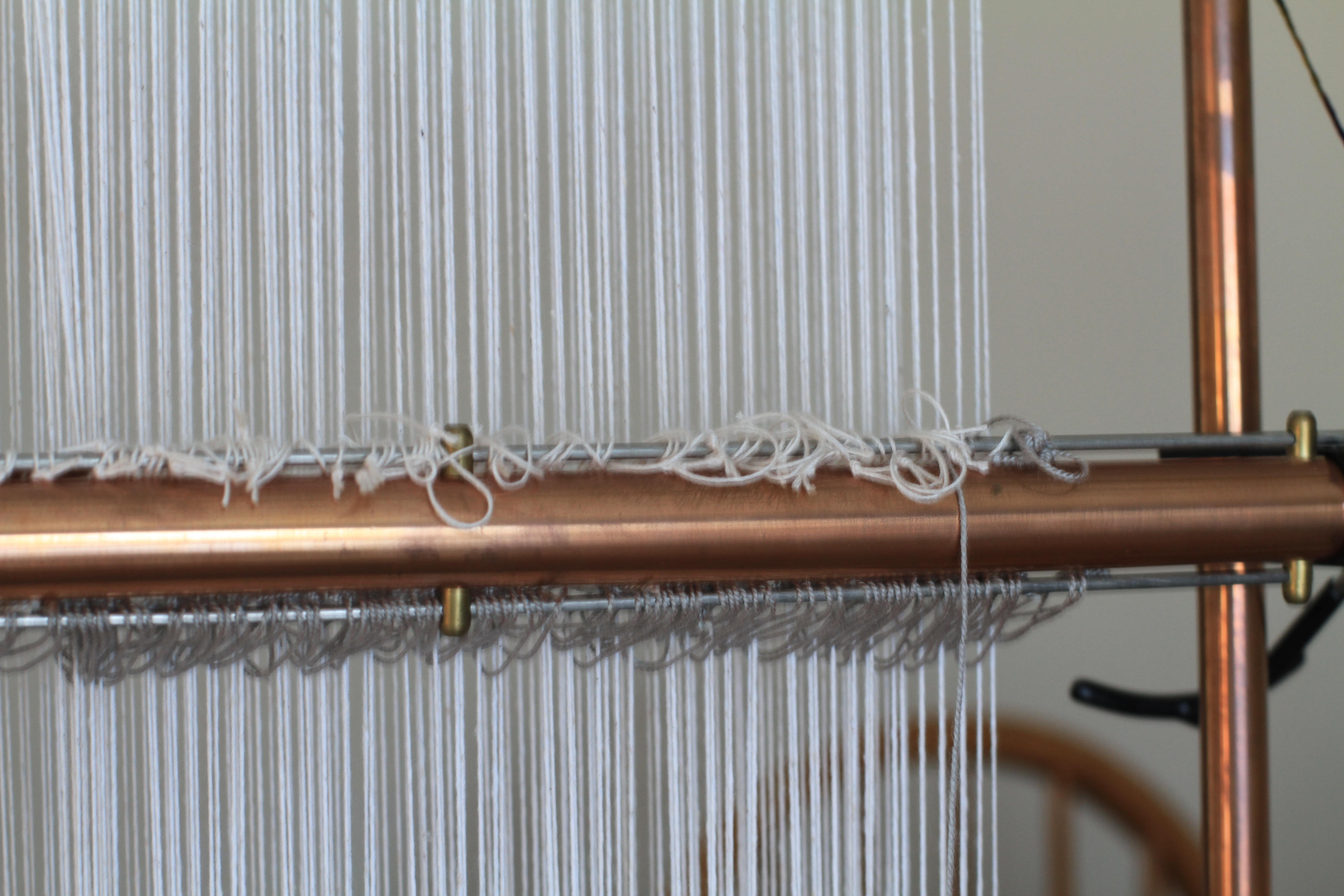 Adding Heddles to Tapestry Loom