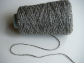 Yarn Dark Grey DK 2Ply Millspun 68% Mohair 32% Shetland, Blue Faced Leciester Wool - By the Pound