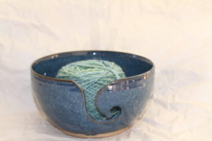 Aquatics Hand Dyed Yarn in Wendy Clay Blue Yarn Bowl