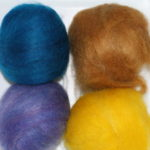 Roving Sampler 4Oz Blue Yellow Brown