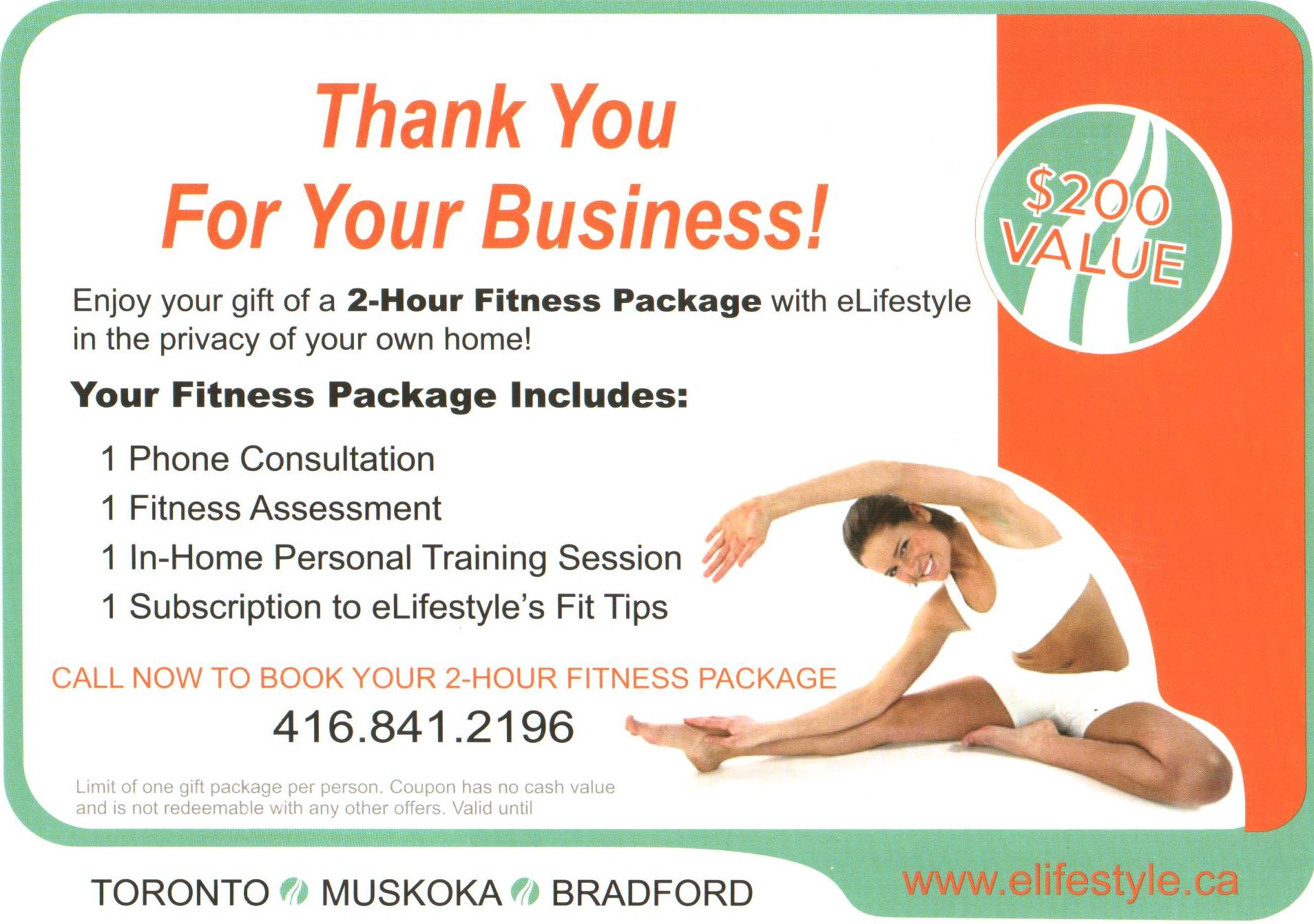 Fitness Package Promotion