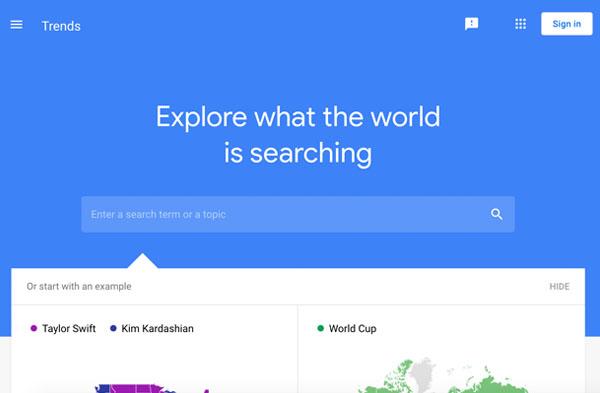 Digital Marketing Competition - Google Trends