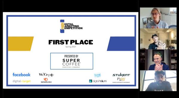 Spring 2021 Digital Marketing Competition Winning Team