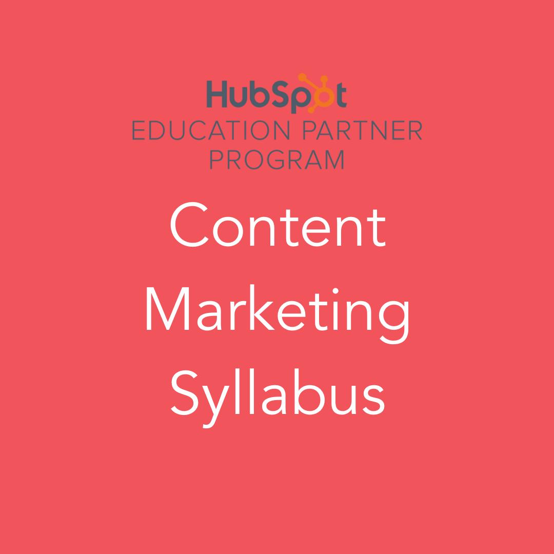 HubSpot Content Marketing Syllabus