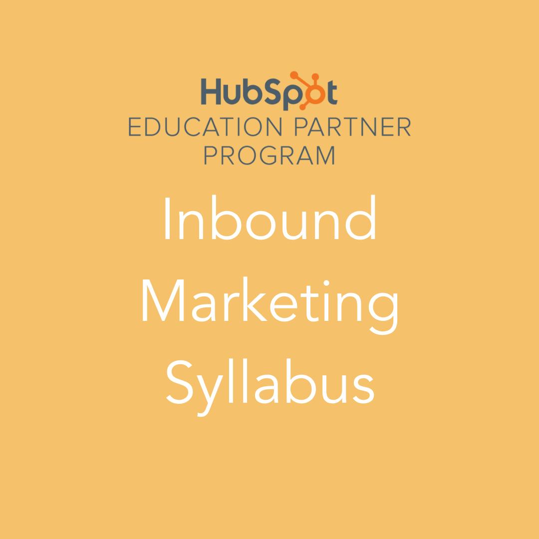 HubSpot Inbound Marketing Syllabus