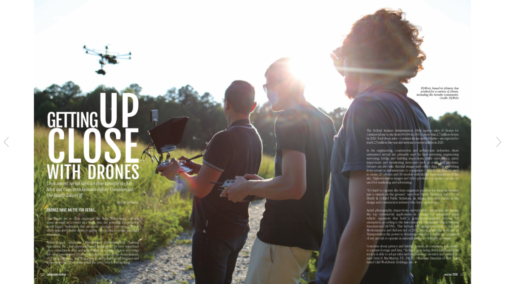 Getting Up Close with Drones - FlyWorx Engeneering GA Magazine