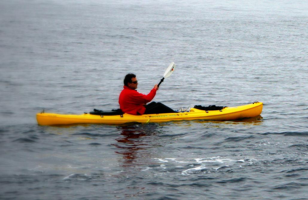 Don Mcdonald in kayak