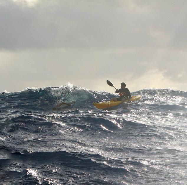 Kaiwi Doug McConnell swims Channel swim photo