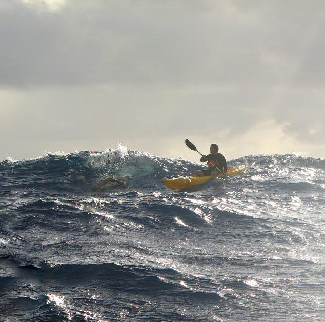 Kaiwi Doug McConnell swims Channel swim photo
