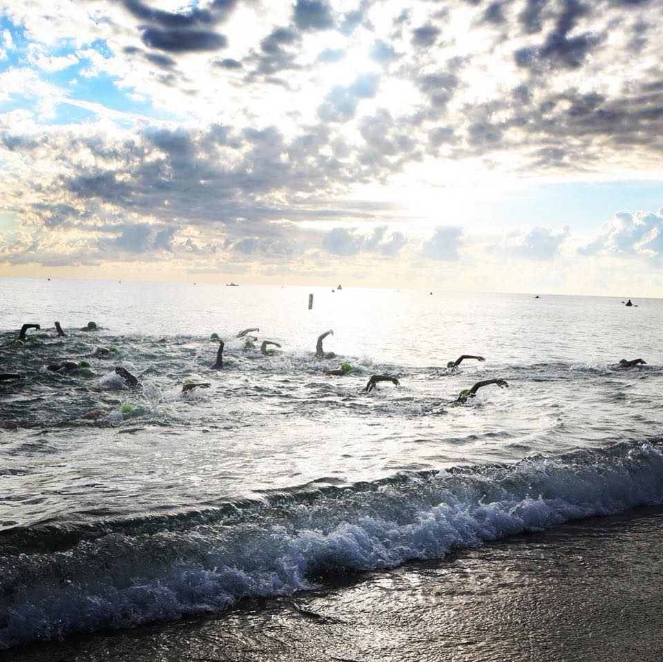 open water swimming lake michigan
