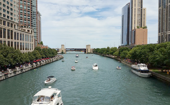 Chicago River Marathon Swimming