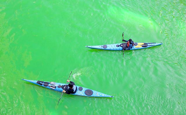 Kayaking on Chicago River