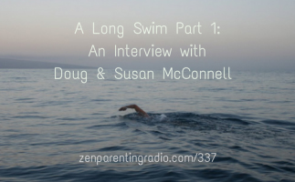 Doug Swimming the English Channel