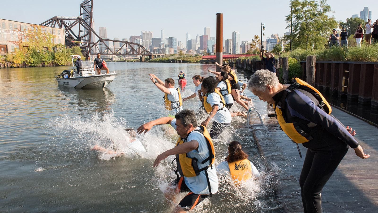 WTTW Article - Chicago River Swim