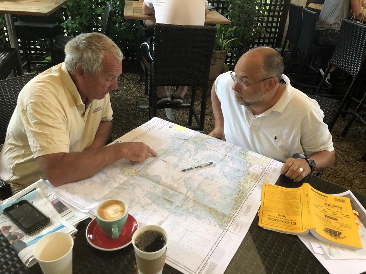 Doug McConnell and Edgartown Harbor Master Charlie Blair