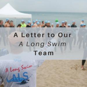 A Long Swim, Lake Michigan, ALS, COVID-19, Team