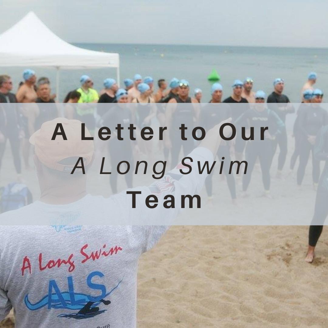 A Long Swim, ALS, Letter, Lake Michigan, Open Water Swimming