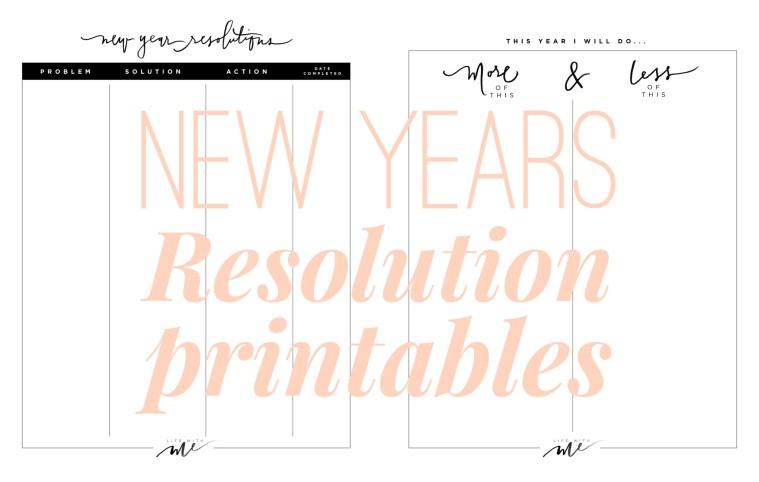 marianna hewitt new year resolution goal sheet printable printables pinterest