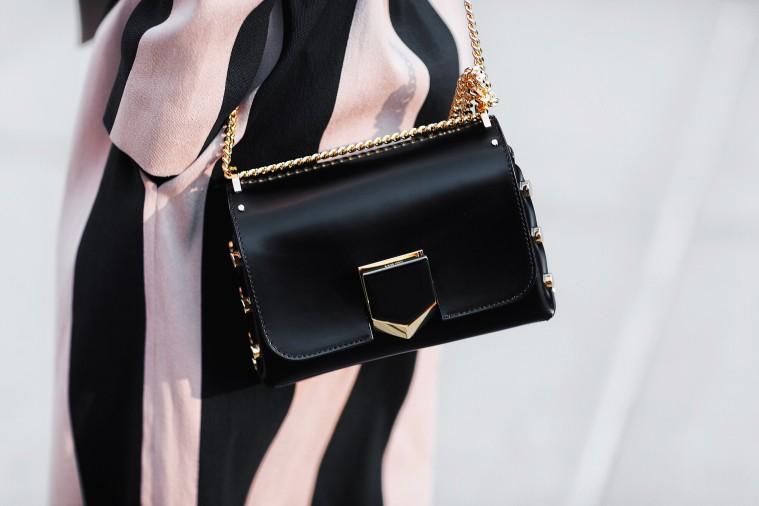 marianna hewitt asos coat jimmy choo purse