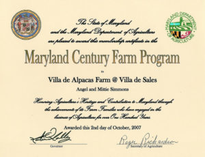 Maryland Century Farm Program