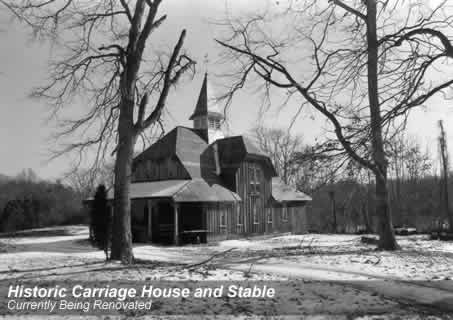 Early photo of the stable/carriage house