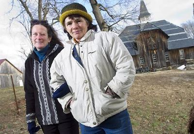 Joanne Flynn (right) and Angel Forbes Simmons are members of the Greater Baden-Aquasco Citizens Association, a community group that has filed suit to prevent the county zoning board from allowing a housing development on a parcel of land known as the Shultze Property. (photo by Christopher Anderson/the Gazette-Star)
