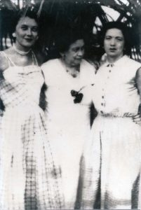Eugenia with her daughters, Mittie and Patty