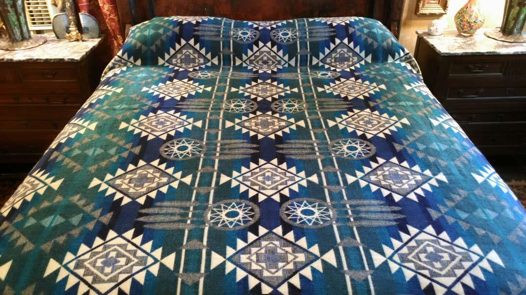 Alpaca Blanket - Teal Blue Dreamcatcher