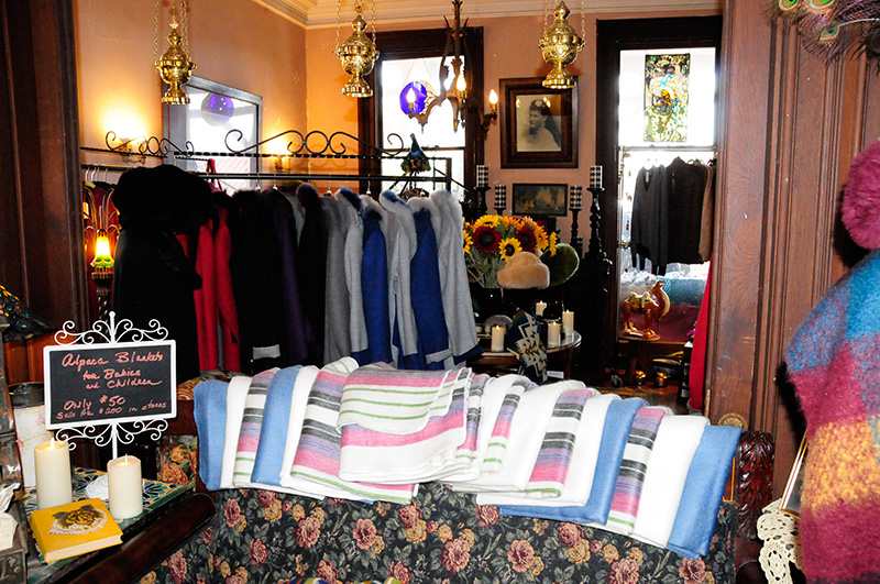 Alpaca blankets, coats, gloves, and sweaters