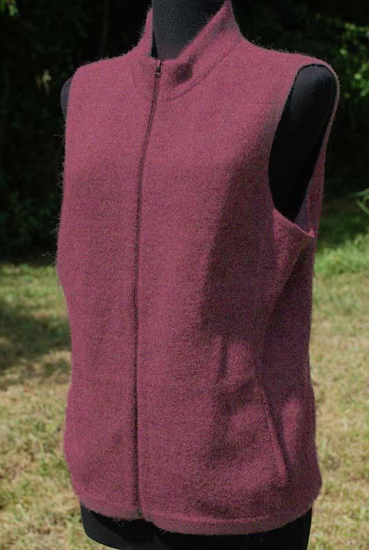 Women's Alpaca Vest in heathered rose color