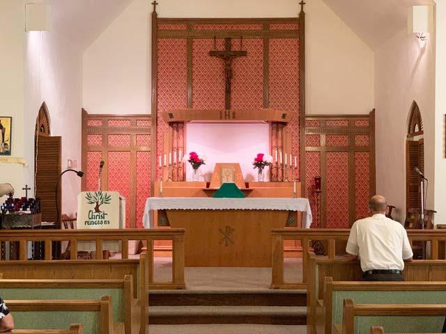 St. Dominics Catholic Church altar