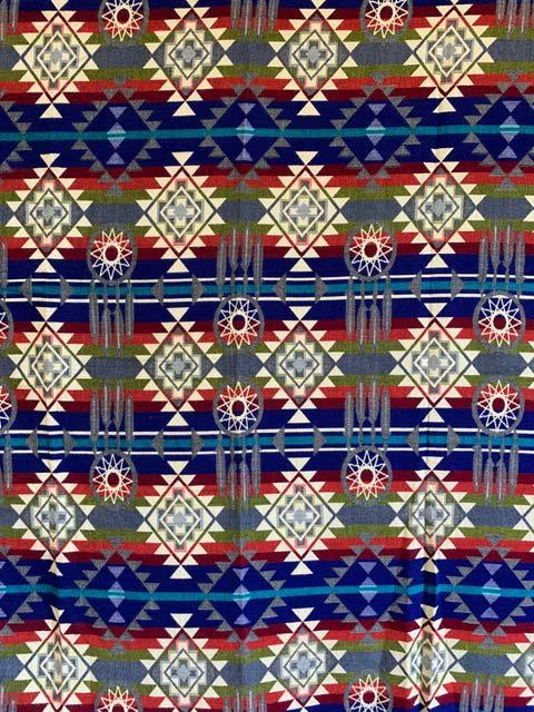 Blue Dreamcatcher Alpaca Blanket detail