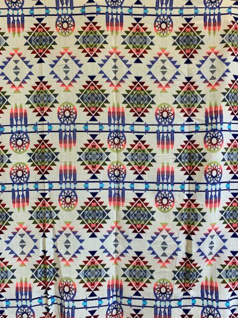 Blue Dreamcatcher Alpaca Blanket reverse detail