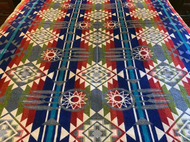 Blue Dreamcatcher Alpaca Blanket