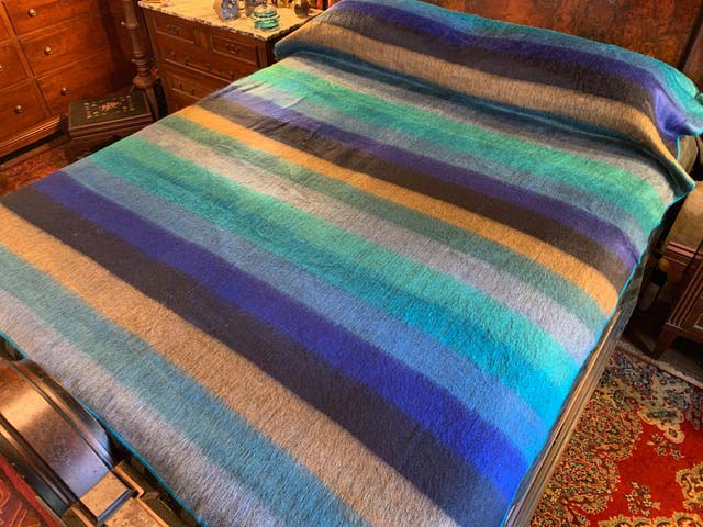 Ocean Dreams Alpaca Blanket