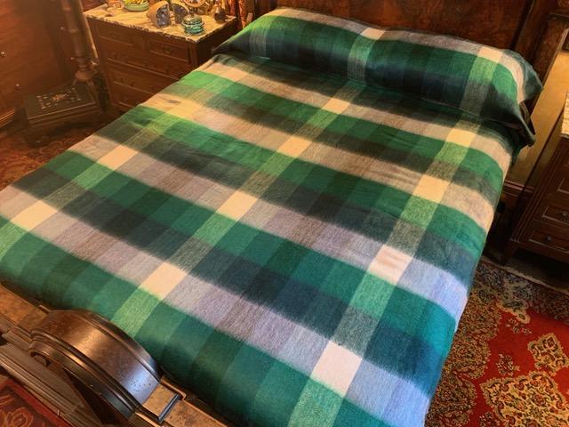 St. Patricks plaid alpaca blanket