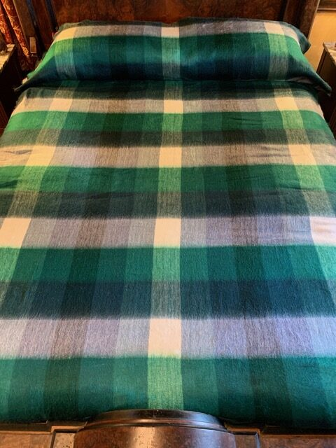 St. Patricks plaid alpaca blanket